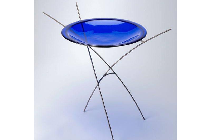 Cobalt Birdbath by Melody Lane