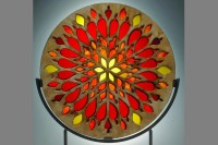 Flame Window Sculpture by Melody Lane